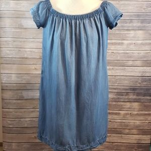CLOTH & STONE Chambray Off The Shoulder Dress